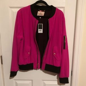 NWT Hot Pink Juicy Couture Bomber Jacket Size XL